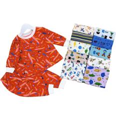[Ảnh Thật Shop Chụp] bộ đồ tay dài bé trai bé gái MÀU NGẪU NHIÊN chất liệu 100% cotton vải dày mịn mát (8-20Kg)