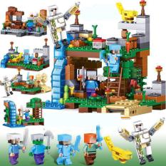 Lego Minecraf 💖Lego Minecraf My World 💖 Minecaft Thác Nước Huyền Bí 💖Minecaft 356-(có 6 hộp giao ngẫu nhiên)