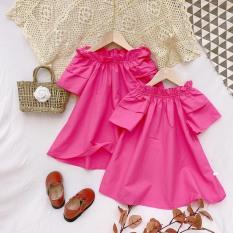 Váy bé gái Babydoll hồng sen XHN653