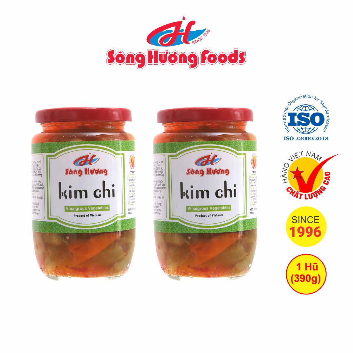 2 Hũ kim chi Sông Hương Foods hũ 390g