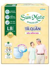 Tã Quần Sunmate Siêu Mềm Mại L8 (8 Miếng)