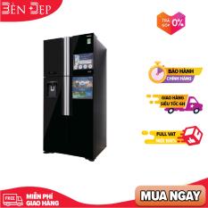 [TRẢ GÓP 0%] Tủ lạnh Hitachi 4 cánh màu đen R-FW690PGV7(GBK) ( Vận chuyển miễn phí khu vực TP Hà Nội)