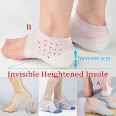 Đôi tất độn gót chân tăng chiều cao cho nam và nữ bằng silicon mềm mại, êm chân, Lót độn đến tăng 3cm chiều cao đúc nguyên khối silicon dùng được với mọi loại giày, giảm khuyến mại cực rẻ