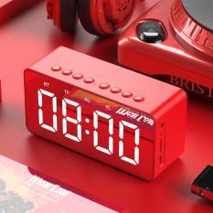 Loa Bluetooth BT506 nhà chuyên dùng siêu âm bass hỗ trợ âm thanh cho điện thoại đồng hồ loa bluetooth mini tiện đem theo nhiều chức năng đồng hồ và báo thức