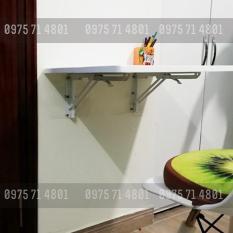 Bàn gập treo tường sơn trắng 40x100cm dày 18mm tải 50-70kg