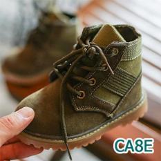 Boot Da Lộn Cổ Thấp Siêu Chất Cho Bé
