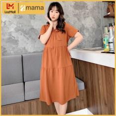 Đầm váy bầu dự tiệc 2MAMA dáng suông đẹp thiết kế thắt nơ – V40
