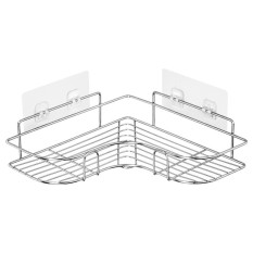 Kệ góc treo dán góc tường phòng tắm, Kệ Góc Nhà Bếp Đựng Gia Vị, Kệ Nhà Tắm, Kệ Inox Không GỉLOẠI XỊN SIÊU CHỊU LỰC 10KG
