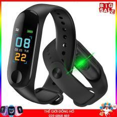 Vòng đeo tay thông minh Smart Band M3 Đo Nhịp Tim kết nối Bluetooth.Đồng hồ Thông Minh Chống Nước Vòng Tay Đồng Hồ Dây Đeo Tay Tập Thể Thao, Vòng Theo Dõi Sức khỏe, Vòng Theo dõi vận động, Đồng hồ thông minh giá rẻ