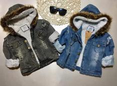 Áo khoác bò sành điệu cho bé trai bé gái 2018