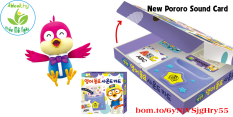 Thẻ học tiếng Anh Pororo English sound card Hàn Quốc phiên bản 2021 – 4Healthy