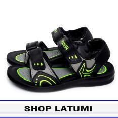 Giày Sandal trẻ em quai dù, giày xăng dan có quai hậu, thích hợp học sinh phối màu họa tiết bắt mắt và độc đáo vận động du lịch thoải mái kiểu dáng cổ điển thời trang cao cấp Latumi TA2532 (Đen Phối Xanh Lá)