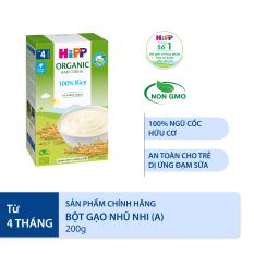 [BESTSELLER][QUÀ TẶNG HOT] Bột gạo ăn dặm HiPP Organic Baby Cereal 100% Rice hoàn toàn từ bột gạo hữu cơ, tự nhiên, an toàn, dinh dưỡng, bổ sung vitamin B1, dành cho trẻ từ 4 tháng tuổi, trẻ hay bị dị ứng thức ăn 200g