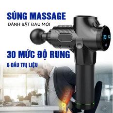 Súng Massage Cầm Tay Cao Cấp Cát Á 6 đầu trị liệu, 30 chế độ rung EM009 – Bảo hành 1 năm Chính Hãng