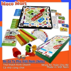 ✻ BỘ CỜ TỶ PHÚ VIỆT NAM (Cỡ Lớn, Chính Hãng Sato), Trò Chơi Board Game Bàn Cờ Tỉ Phú Xịn, Đồ Chơi Trí Tuệ Trẻ Em MECO MART