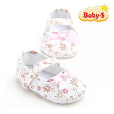 Giày tập đi búp bê cho bé gái 0-18 tháng tuổi vải hoa phong cách vintage phối nơ xinh xắn cho bé phối đầm nhẹ nhàng xinh yêu Baby-S – STD19