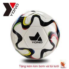 Quả bóng đá YONO số 5 – Banh Đá Da Cao Cấp Size 5 (Qua Bong da – Trai banh Tiêu chuẩn thi đấu, Tặng kèm kim bơm và túi lưới)