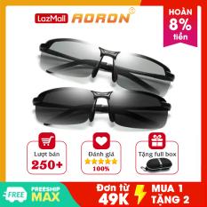 Mắt kính nam đổi màu, kính đổi màu nam, kính đi đêm nam cao cấp dòng kính phân cực chống nắng chống uv400 – AK036 – AORON