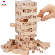 Bộ Đồ Chơi Rút Gỗ Board game – Thanh Rút 51*17*9MM – 54 Thanh Gỗ Kèm 4 Con Súc Sắc Cho Bé – Đồ Chơi Rút Gỗ Cao Cấp Amalife