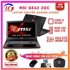 Laptop Game Giá Rẻ, Laptop Gaming MSI GE72 2QD, i5-4210H, VGA Rời Nvidia GTX 960M- 2G, Màn 17.3 FullHD, LaptopLC298