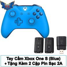 Tay cầm XBox One S (Blue) + Tặng Kèm 2 cặp Pin Sạc 2A