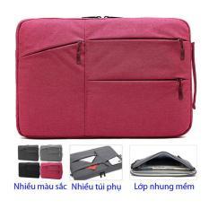 Túi chống sốc 2 ngăn 3 túi phụ cho laptop, Macbook 14 inch