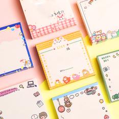 Giấy note 80 tờ cầm tay nhỏ gọn tiện lợi đủ họa tiết cute cùng nhiều màu sắc lung linh đáng yêu cho mọi lứa tuổi BBShine – H033