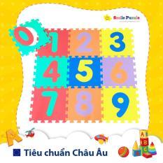 Thảm xốp cho bé – chữ số (10 miếng, tổng kích thước 0.6mx1.5m) Smile Puzzle – KHÔNG MÙI CHUẨN CHÂU ÂU