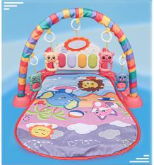 Thảm nằm em bé có khung treo đồ chơi, đàn piano có đèn và nhạc, thảm cotton 2 lớp chống thấm và cotton thoáng khí an toàn cho bé, bao bì đẹp
