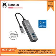 Bộ HUB chuyển đổi Type C sang 5 cổng USB 3.0 (Type C 3.0 to 3 USB3.0 + 2 USB2.0 OTG HUB)