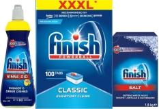 Combo Viên rửa bát Finish 100V+1,5kg Muối finish+Nước làm bóng finish 400ml