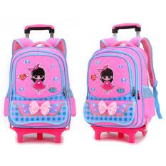 Balo Kéo, balo đi học có bánh xe tiện lợi cho bé 6-12 Tuổi