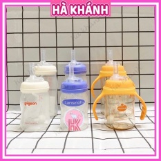 Ống Tập Hút Bình Sữa Cổ Rộng Pigeon , Lansinoh Momma , Moyuum P09