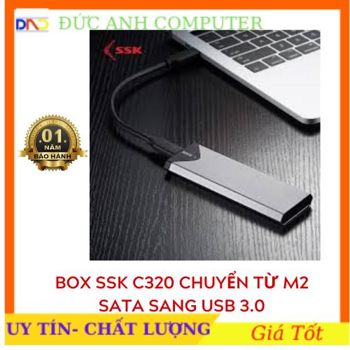 Box chuyển SSD M2 Sata sang ổ cứng di động – SSK SHE-C320 chuẩn USB 3.0 – 5Gbps M.2- Hàng Chính Hãng Bảo Hành 6 Tháng