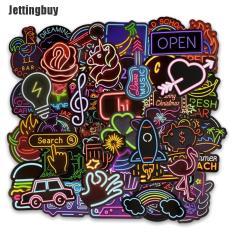 Set 50 miếng dán Jettingbuy phong cách neon dễ thương dùng cho vali máy tính bảng – INTL