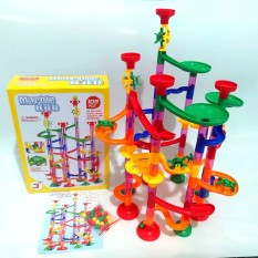 Lắp ráp mê cung bi 3 chiều, đồ chơi lắp ráp thả bi Marble run 109 chi tiết cho bé