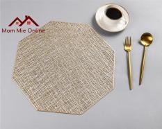 [HCM] Tấm lót bàn ăn hình bát giác giả sợi đan phá cách