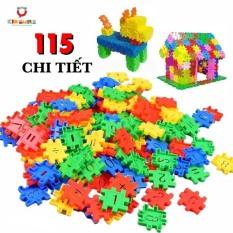 Đồ chơi trẻ em túi 115 tấm xếp hình nhựa nguyên sinh an toàn nhiều màu sắc giúp trẻ từ 3 tuổi trở lên phát triển trí tưởng tượng và tư duy sáng tạo