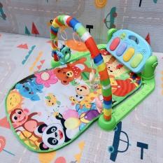 Thảm Vườn Thú nằm vui nhộn cho bé chơi có nhạc piano thích hợp cho bé từ 0-18 tháng tuổi, hình ảnh màu sắc bắt mắt, thu hút trẻ nhỏ, đàn piano có đèn và nhạc