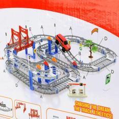 Bộ lắp ráp đường đua ô tô 88 chi tiết cho bé – đồ chơi lắp ghép mô hình – đồ chơi trẻ em