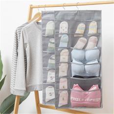 Túi đựng đồ , quần áo vật dụng nhiều ngăn – Túi đựng đồ lót, tất vớ 2 mặt nhiều ngăn có móc treo
