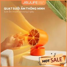 Quạt sưởi mini để bàn làm việc, văn phòng, phòng ngủ 2 cấp độ điều chỉnh nhiệt Jisulife NF1 – Quạt sưởi gốm PTC hiệu suất cao, tự động ngắt điện an toàn khi nghiêng (Bảo hành 12 tháng)