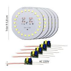 5 Bảng bo vỉ mạch Led 20w 22 mắt chip Led 2835 siêu sáng + nguồn drive AC220V MLB-H20x