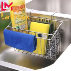 Kệ Để Giẻ Rửa Chén Bát Gắn Thành Bồn Chậu Rửa Inox 304 Latimax – Giỏ đựng miếng rửa chén kèm thanh vắt khăn lau tay Chống Nước Chống han gỉ