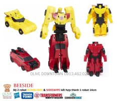 BUMBLEBEE và SIDESWIPE / Bộ 2 Robot kết hợp thành Robot BEESIDE 15cm – TRANSFORMERS Combiner Force