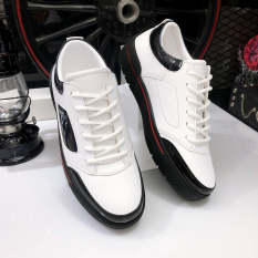 Giày thể thao nam da nhập Poly Synthetic cao cấp đế cao su êm ái mã LC29
