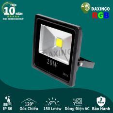 Đèn pha LED 20W đổi màu Daxinco