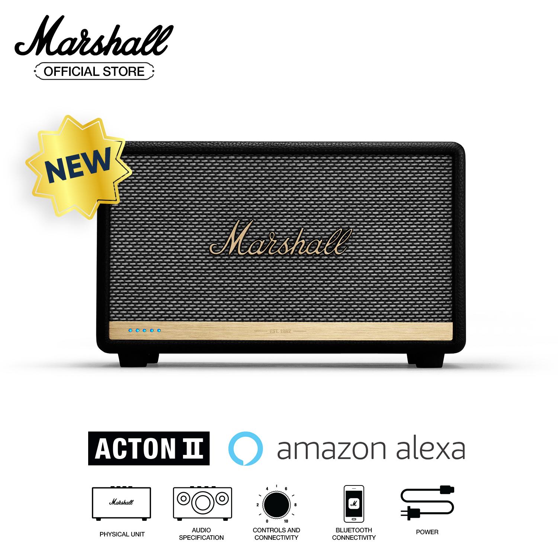 [Trả góp 0%][Hàng chính hãng] Loa Bluetooth Marshall Acton II Voice with Amazon Alexa Assistant Homeline – 1 năm bảo hành (Đen)