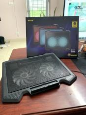 Đế Tản Nhiệt Quạt tản nhiệt Laptop Cool 2 Quạt Đèn Led Đế Nâng 17 Inch Trở Xuống