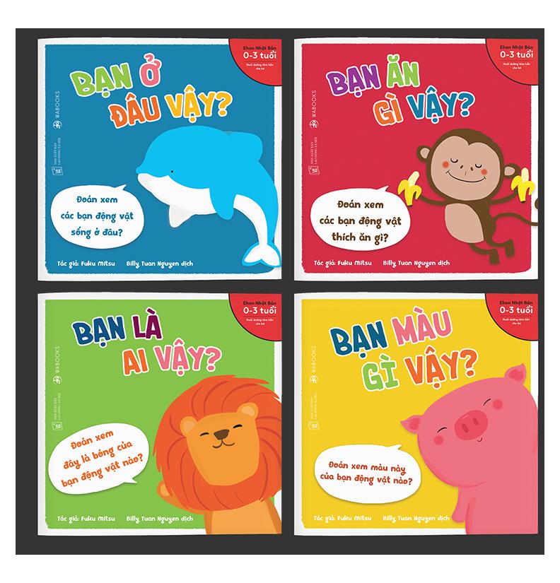 Sách Ehon – Combo 4 cuốn Bạn là ai vậy – Dành cho trẻ từ 0 – 3 tuổi